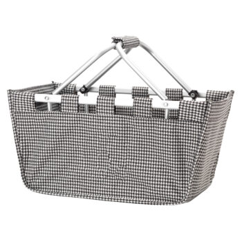 Houndstooth Market tote   Houndstooth