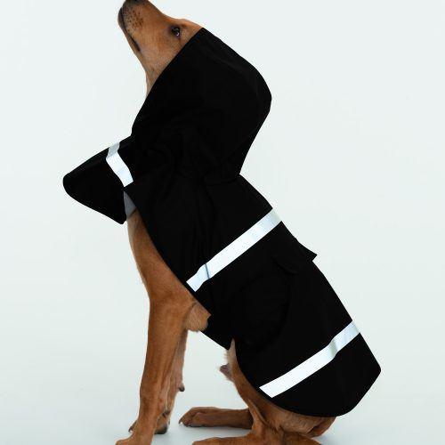 1099 Doggie Rain Jacket   Black