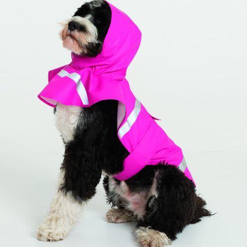 1099 Doggie Rain Jacket   Hot Pink