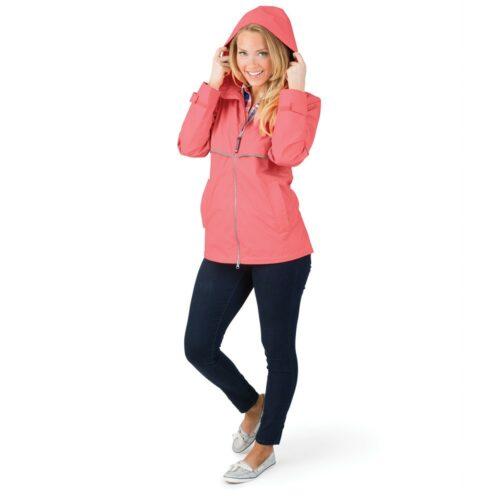 5099 256 m womens new englander rain jacket lg hr
