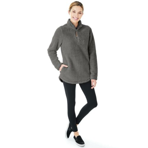 5876 Ladies Newport Fleece   Charcoal