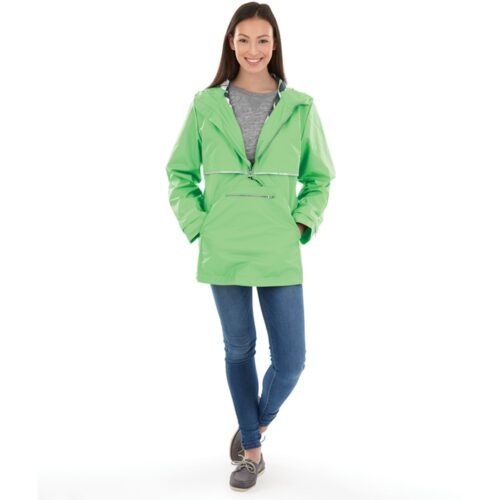5892 Women's New England Pullover   Bright Green