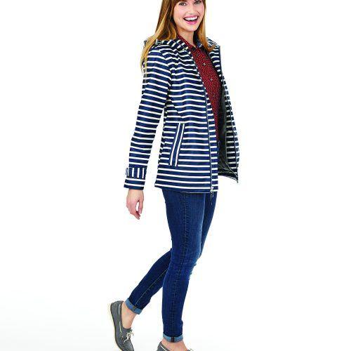 5990 548 m womens new englander printed rain jacket lg hr