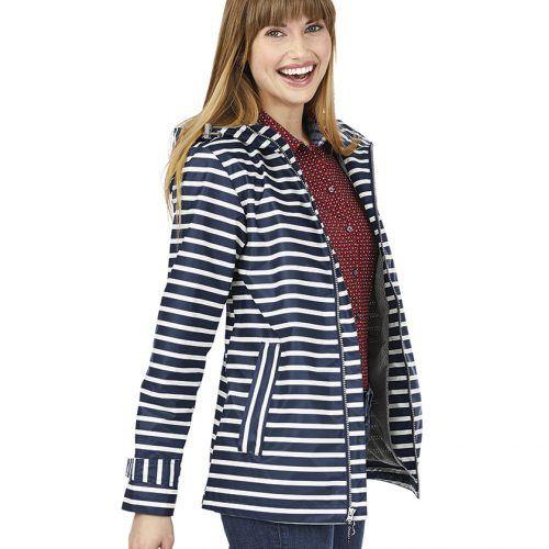 5990 548 m womens new englander printed rain jacket lg lo