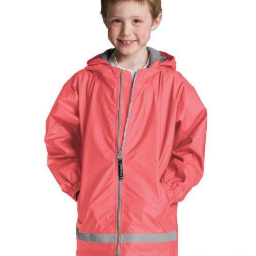 8099 256 m youth new englander rain jacket lg lo