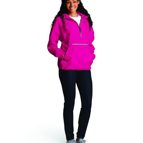 9904 Pack N Go Pullover   Hot Pink