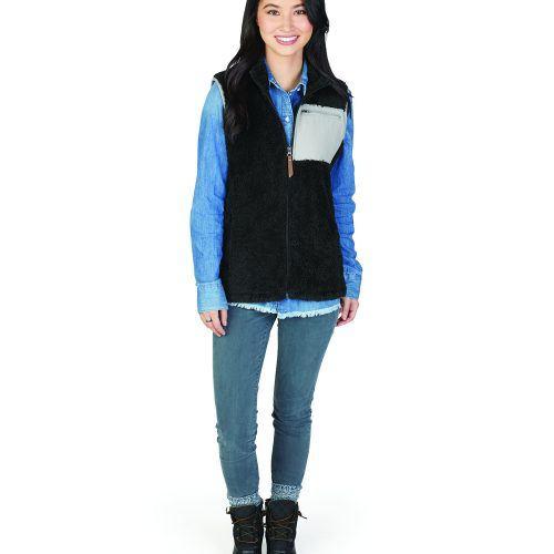 5974 006 m womens newport fleece vest lg hr
