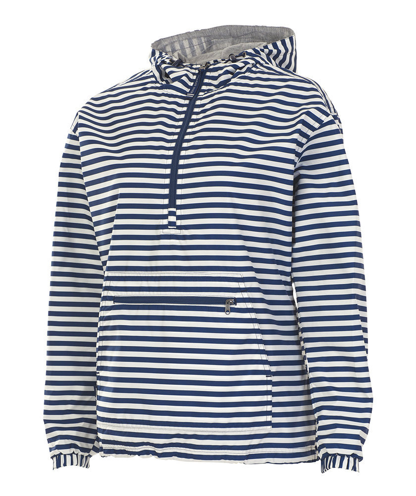 5809 Chatham Anorak   Navy Stripe