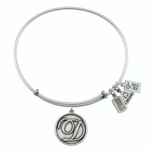 D Silver Initial   Silver