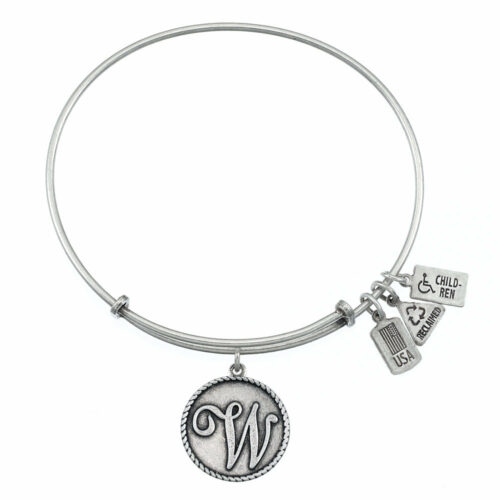 W Silver Initial   Silver
