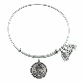 Anchor with Rope Silver   Silver