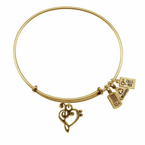 Music Heart Gold   Gold