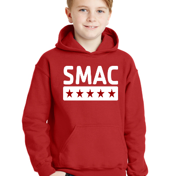 SMAC Youth Hoodie   Red