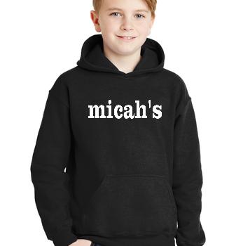 Micah's Youth Hoodie   Black