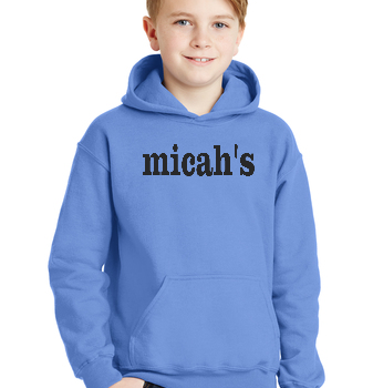 Micah's Youth Hoodie   Carolina Blue