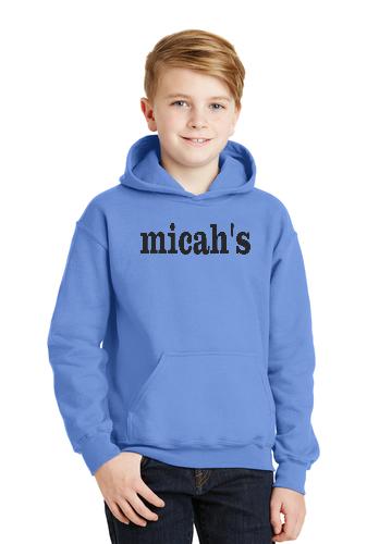 Micah's Youth Hoodie   Carolina Blue
