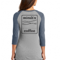 Micah's Ladies Baseball Tee   Navy