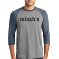 Micah's Baseball Tee   Navy