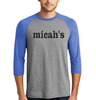 Micah's Baseball Tee   Royal