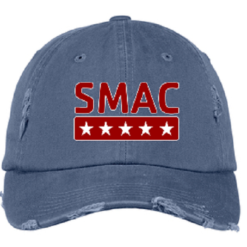 SMAC Distressed Ball Cap   Scotland Blue