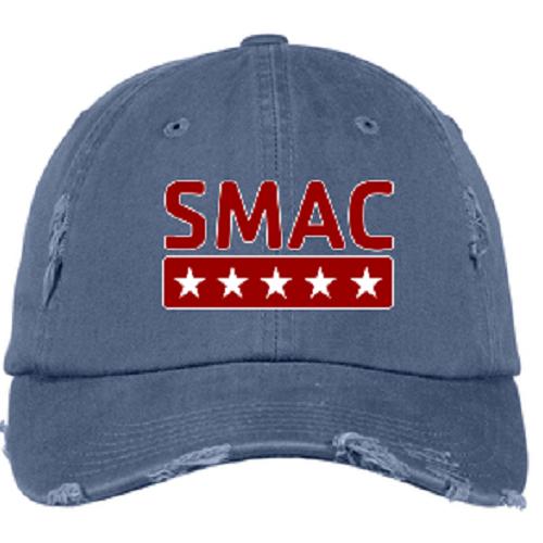SMAC Distressed Ball Cap   Scotland Blue