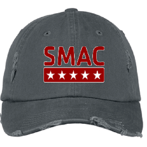 SMAC Distressed Ball Cap   Nickel