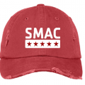 SMAC Distressed Ball Cap   Dashing Red