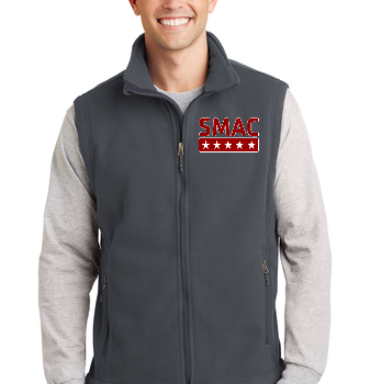 SMAC Unisex Fleece Vest   Iron Grey