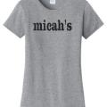 Micah's Ladies Short Sleeve Tee   Athletic Heather
