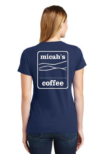 Micah's Ladies Short Sleeve Tee   Navy
