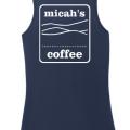 Micah's Ladies Cotton Tank Top   Navy