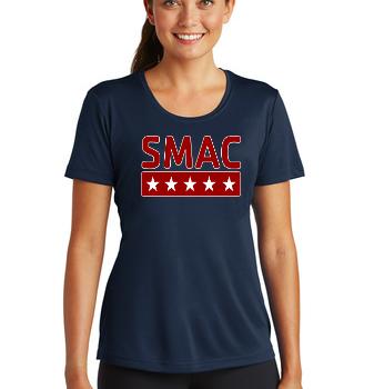 SMAC Ladies Wicking T shirt   True Navy