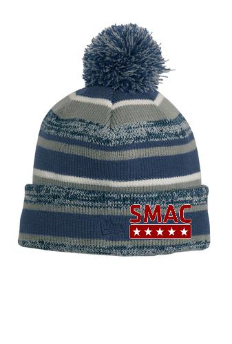 SMAC Pom Pom Beanie   Navy/Grey