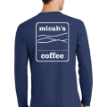 Micah's Long Sleeve Tee   Navy
