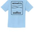 Micah's Youth Short Sleeve Tee   Light Blue
