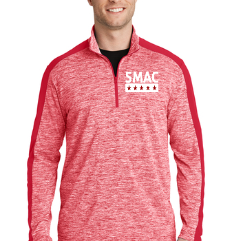 SMAC 1/4 Sport Pullover   Deep Red