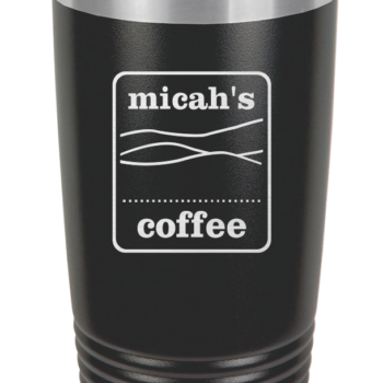 Micah's Stainless Steel Tumbler   Black