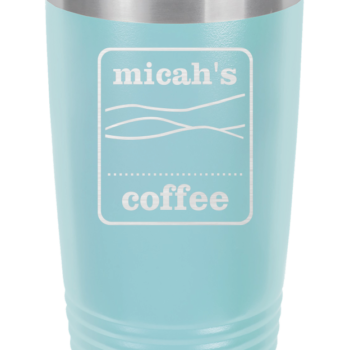 Micah's Stainless Steel Tumbler   Light Blue