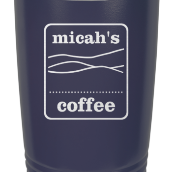 Micah's Stainless Steel Tumbler   Navy