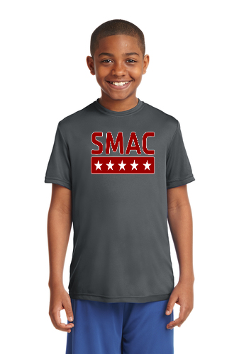 SMAC Youth Wicking T shirt   Iron Grey