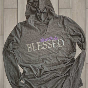 Dare to be Blessed Ladies Perfect Tri Blend Hoodie   Grey Frost