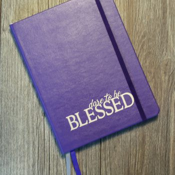 Dare to be Blessed Lined Journal   Purple