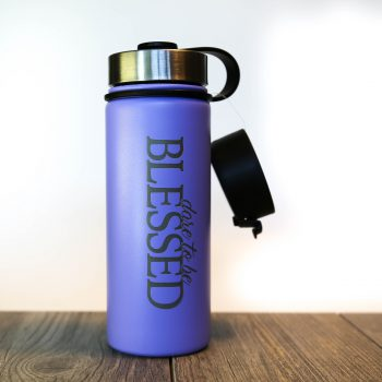 Dare to be Blessed 18 oz Water Bottle   Raspberry