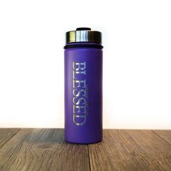 Dare to be Blessed 18 oz Water Bottle   Lilac