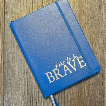 Dare to be Brave Lined Journal   Blue