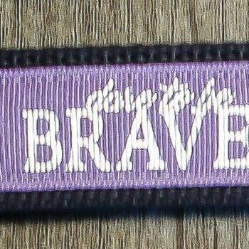 Dare to be Brave Key Chain   Lavender