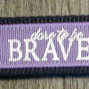 Dare to be Brave Key Chain   Lavender