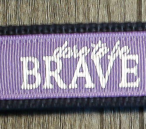 Brave keychain lavender
