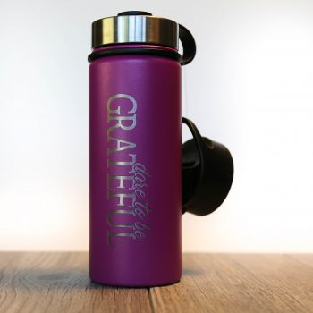 Dare to be Grateful 18 oz Water Bottle   Orchid