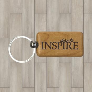 Dare to Inspire Wood Key Chain